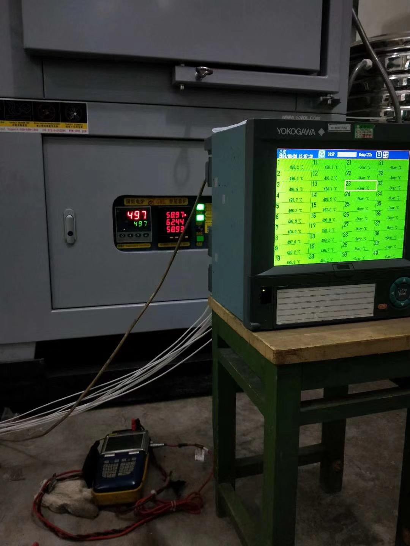 GWL箱式电阻炉校正数据
